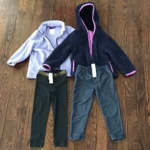 Lot of 24 months/2T girls jackets and pants